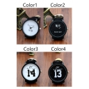Fashion Sweet Good morning Good night Letter Dial Quartz Watch for Couples