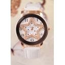 Women's Fashion Glittering Star Pattern Dial Quartz Watch