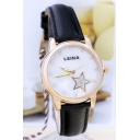 New Fashion Glittering Star Leather Band Quartz Watch