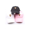 New Arrival Fashion Cute Embroidered Colored Balloon Baseball Caps