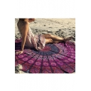 Fashion Round Bohemian Print Beach Towel Cushion Shawl Decoration Tapestry Rug