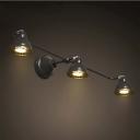 30'' Wide Black Finish Three Light 3W LED Wall Spotlight