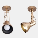 Vintage Mini Commercial LED Spotlight in Antique Bronze Finish