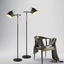 Chic Industrial Mid-Century Modern Black LED Floor Lamp