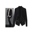 Women's Fashion Waterfall Open Front Long Sleeve Coat