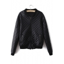 New Cool Girl Zip Front Leather Jacket Motorcycle Bomber Jacket Flight Coats