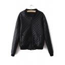 New Cool Girl Zip Front Leather Jacket Motorcycle Bomber Jacket Flight Coats