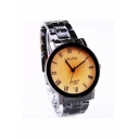 Unisex Cool Style Quartz Watch Black/Brown
