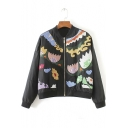 Autumn New Fashion Colored Embroidered Baseball Jacket