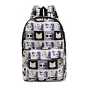 Fashion Cute Cat Printed Canvas Backpack School Bag Travel Bag