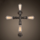 24'' H Cross Shape 4 Light LED Wall Sconce