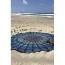 2016 New Blue Geometric Printing Summer Beach Towel 3D Blue Yuga Mat 160 *160