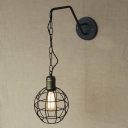 Single Light Black 1 Light Indoor Hanging LED Wall Sconce