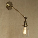 Mini Adjustable LED Wall Sconce in Gold Finish