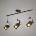 Modern Vintage Style 3 Light Commercial LED Tracking Light in Antique Bronze