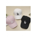 Unisex Fashion Embroidered Letter Baseball Cap Black/White/Pink