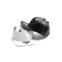 Unisex Fashionable Cloud Print PU Baseball Cap Hip Hop Hats Black/White