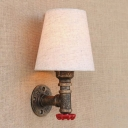 Red Valve Decorated 1 Light Indoor Hallway Small LED Wall Lamp