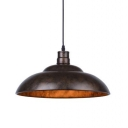 Full Sized Barn LED Pendant with Bowl Shade in Old Bronze Finish