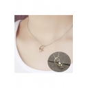 New Arrival Fashionable Cat Siting On Moon Pendant Necklace