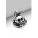 Unisex Fashion Skull Titanium Steel Ring