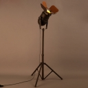 Old Rust Single Light 57'' H Industrial Spotlight LED Floor Lamp