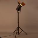 Old Rust Single Light 57'' H Industrial Spotlight LED Floor Lamp