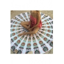 Fashion Round Printed Beach Towel Yoga Mat Panic Mat Cushion Shawl