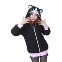 Women's Cute Cartoon Hoodie Outerwear Jacket Sweatshirt