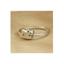 Popular Cute Cat S925 Silver Opening Ring
