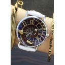 New Arrival Women's Vintage Style Roman Numerals Dial Leather Band Quartz Watch