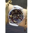 New Arrival Women's Vintage Style Roman Numerals Dial Leather Band Quartz Watch