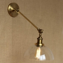 Glod Finished Semi Globe Single Light LED Wall Sconce