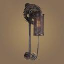 Antique Copper Single Light Industrial Indoor Hallway LED Lighting