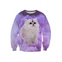 Women's Colorful Patterns Print Pullover Sweatshirt Tracksuit Tops Outwear