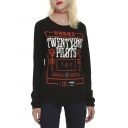 Sweatshirt New Trendy Scales Print Black Pullovers Tops