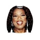 Hipsters 3d Digital Printed Crew Neck Pullover Sweater Sweatshirt