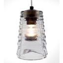 Pressed Glass Cylinder Shaded Designer Pendant Light ,Clear,  Stunning And Bright
