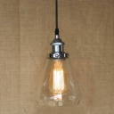 Industrial Style Simple 1 Light Mini Glass LED Pendant in Chrome Finish