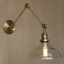 Gold Finished 10'' Wide Industrial LED Wall Sconce with One Light