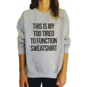 Women's Letter Print Long Sleeve Sweatshirt Loose Pullover Blouse Tops Shirt