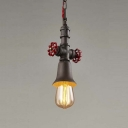 Single Light Mini Pipe LED Hanging Pendant Lamp with Novelty Shade