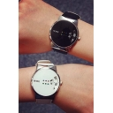 Unisex Fashion Brand Watches Popular Leather Quartz Watch Trendy Lover's Wristwatch