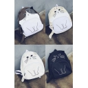 New Arrival Fashion Cute Cartoon Cat Print Backpack School Bags Travel Bags