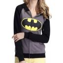 Women's Fashion Scarf Neck Batman Tops Hoodies Tees Sweatshirt