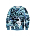 Hipsters 3d Digital Printed Crew Neck Pullover Sweater Sweatshirt