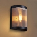 Single Light 1 Light Industrial Hallway Indoor Mesh LED Wall Sconce