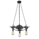 Old Iron 3 Light Industrial Style Gear LED Pendant Lamp