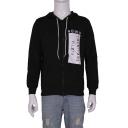 Unisex Casual Letter Print Long Sleeve Drawstring Hooded Sweatshirt