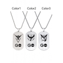 Elves Baby Pokemon Three Camps Symbol Stainless Steel Necklace